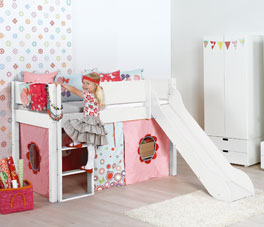 Mini-Rutschen-Hochbett Kids Town mit GS-Siegel