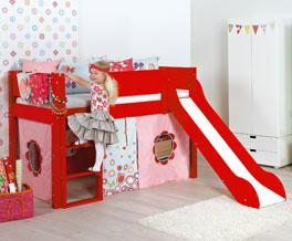 Sicheres Mini-Rutschen-Hochbett Kids-Town