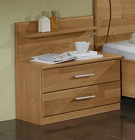 Nachttisch Beyla mit zwei Schubladen