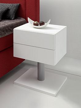 Nachttisch Bianco weiß mit 2 Schubladen