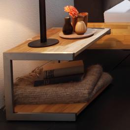 Nachttisch Vimara aus Buche ohne Schubladen