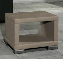 Nachttisch Firenze mit modernen Chrom-Füßen
