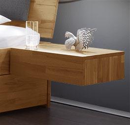 Massivholz-Nachttisch Manchester aus Kernbuche