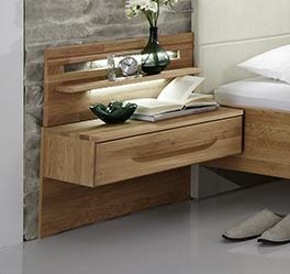Moderner Nachttisch Morley mit einer Schublade und Paneel