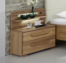 Nachttisch Morley mit Schublade und modernem Paneel