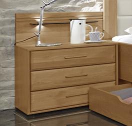 Holz-Nachttisch Narita mit Stauraum