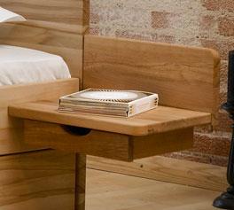 Schwebe-Nachttisch Norwegen mit Schublade
