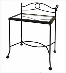 Nachttisch Odria mit praktischer Glasplatte