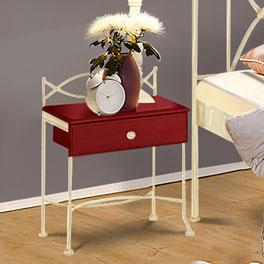 Nachttisch Ordino kombiniert Holz und Metall