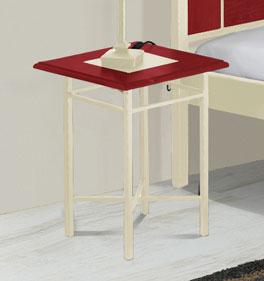 Hochwertiger Nachttisch Pintana mit Ablagefläche aus Holz