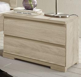 Schlichter Nachttisch Rodari aus Holz