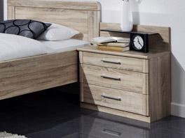 Nachttisch Runcorn aus Eiche sägerau in breiter Ausführung