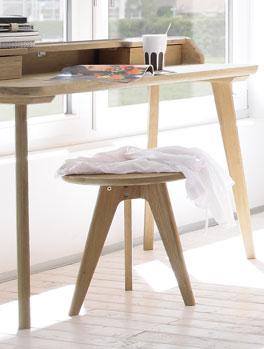 Multifunktionaler Nachttisch und Sitzhocker Rakaia