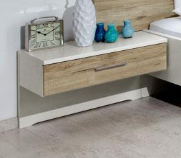 Moderner Nachttisch Swansea mit praktischer Ablagefläche
