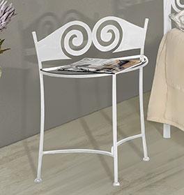 Moderner Nachttisch Trojan mit Glasablage