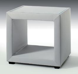 Geräumiger Nachttisch Severo mit Glasplatte