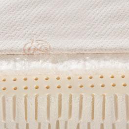 Naturlatex-Matratze orthowell bio XXL mit atmungsaktivem Vlies aus Baumwolle