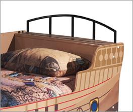 Piratenbett Enter mit Ablagefläche am Kopfteil