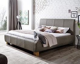 Komfortables Polsterbett Annaba in Doppelgröße