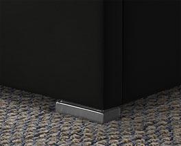 Polsterbett Firenze Comfort mit hochwertigen Chrom-Block Füßen