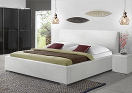 Modernes Doppel-Polsterbett Firenze Comfort aus Kunstleder