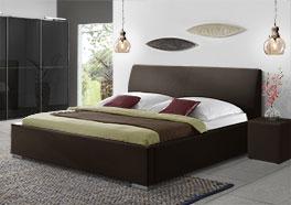 Doppel-Polsterbett aus Kunstleder Firenze Comfort