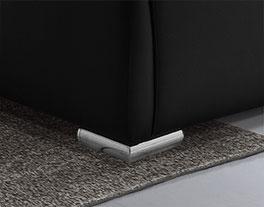 Modernes Polsterbett Lewdown mit niedrigen Chrom-Füßen
