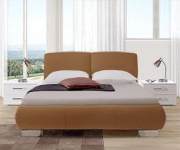 Stabiles und stilvolles Bett Pera