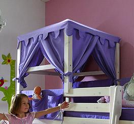 Hochwertiger Prinzessinnen-Bettaufsatz Kids Paradise als praktisches Zubehör fürs Kinderzimmer