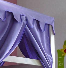 Prinzessinnen-Bettaufsatz Kids Paradise mit Stoffbezug in lila