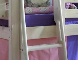 Prinzessinnen-Hochbett Kids Paradise mit Haltergriffen für Sicherheit