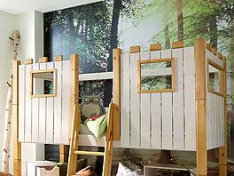 Ritterburg Bettaufsatz Kids Paradise als Umbau-Set aus Holz