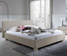 Doppelbett Medina sandfarben in 200x220cm
