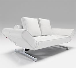 Tolles Qualitäts-Schlafsofa Judy in weißem Design