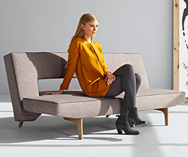 Angenehmes Schlafsofa Littlemore in 2 Webstoff-Farben