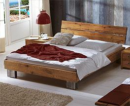 Schlafzimmermöbel mit Bett Fuego aus geölter Wildeiche
