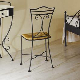 Schminktisch Loria mit Stuhl im verspielten Design