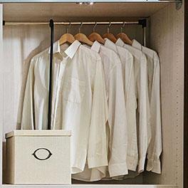 Praktischer und raumsparender Kleiderlift als Schrank-Zubehör