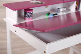 Schreibtisch Mina Violett Beschreibbar MDF Arbeitsfläche Ablagefach