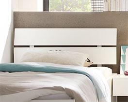 Kopfteil vom Schubkasten-Bett Mocuba aus Massivholz