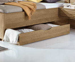 Schubkasten-Doppelbett Toride inklusive Bettkasten