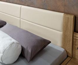 Schubkasten-Doppelbett Toride mit einem bequemen Kopfteil