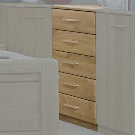 Moderne Schubladen-Kommode Quebo inklusive 5 Schubladen