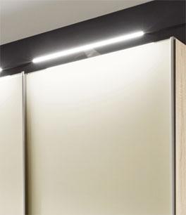 Schwebetüren-Kleiderschrank Banga mit optionaler Beleuchtung