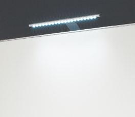 Schwebetüren-Kleiderschrank Laramie Leuchtmittel