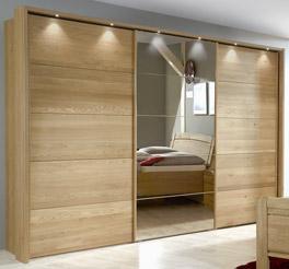 Schwebetüren-Kleiderschrank Quebo inklusive Spiegelfront