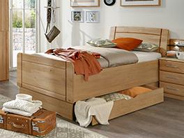 Seniorenbett Ageo mit großem Bettschubkasten
