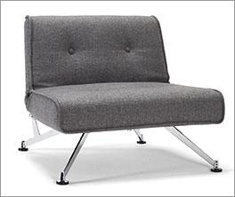 Verstellbarer Sessel Norton mit Chromfüßen