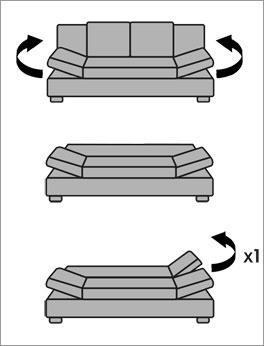 Sofa Blue-River mit Umwandlung zum Doppelbett
