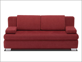 Sofa Brook-Hill inklusive Rückenkissen und Seitenkissen